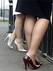 Stiletto Girls Alison and Jenny get men get very sexual about ladies when wear their high heels!...