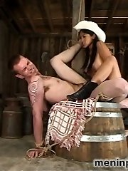 Alexis towers over her groveling dude-meat in a made-to-order guy-eating porn vid for your discerning palate.