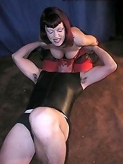 Facesitting in corset and nylons