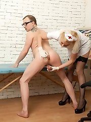 Nurse humiliates and stomps a beefy patient