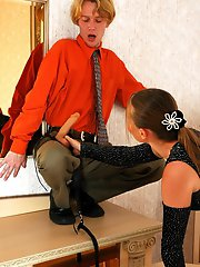 Randy babe and her boyfriend multiply their pleasure by two using strap-on
