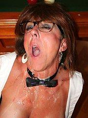MATURE SLUT Terri Wylder eating CUM