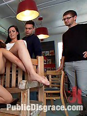 Lovely 19 year old Ashlynn Leigh gets tied up and taken to the comic book store where she deep...