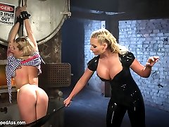 Bailey Blue and Phoenix Marie return to Whipped Ass! Phoenix is pissed that the new starlet didn't even consider Phoenix as her top in her first full feature all about her. Bailey choose some other porn slut and Phoenix wants revenge and we let her have it here on Whipped Ass! Humiliation, face spitting, spanking, flogging, bondage, foot worship, strap-on sex with anal are all included!