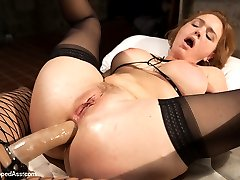 Krissy Lynn returns to Whipped Ass in this sexy role play fantasy. Krissy plays a snobby art curator who's sent to an abandon warehouse as a potential spot to hold an art show. There she finds the tough and sexy Lea Lexis, a Romanian squatter using the warehouse as a place to sleep. Lea isn't amused at the rich bitch invading her turf and uses the opportunity to have a little fun Whipped Ass Style! Krissy is flogged, paddled and spanked, fucked deep in her ass and is made to lick pussy. She's bound wide open with pussy clamps and made to cum against her will! Lea Lexis's evil but seductive dialog torments Krissy throughout!