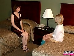 Clare spanks Lindsay