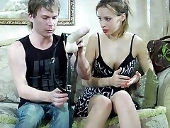 Kinky couple spices up their bonking with some role switching strapon play