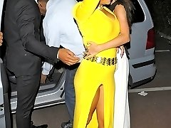 Celebrity fashion scenes of upskirt
