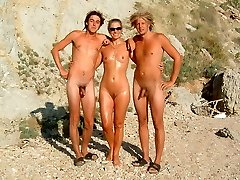 Shy naturist families