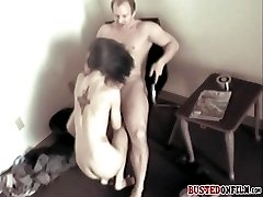 Caught on CCTV while getting banged hard