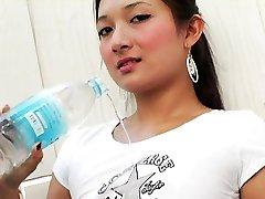 Wet Asian boobies