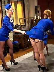 Three ladies compete to earn their stewardess hats to fly the friendly skies but one sadistic...