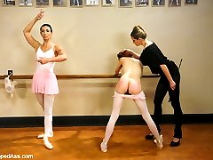 Wenona and Sasha Lexing are two ballerinas in training who get used and abused by kinky instructor Maitresse Madeline.  They get punished and fucked for their short comings and for just being a couple of sluts.  This is a very unique update with lots of lesbian domination and kinky sex including anal strapon, ass licking, nipple clamps, spanking, role play, orgasms and more.  A must see!