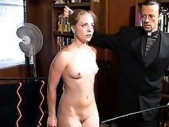 Religious harsh discipline for two young devilish beauties