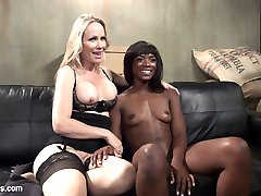 Hot MILF customer Simone Sonay pervs out on sexy barista Ana Foxxx every time she buys her latte. When the opportunity to get Ana alone presents itself, Simone takes full advantage with spanking, flogging, finger banging and pussy strap-on fucking. Simone makes Ana service her with pussy licking and a multiple orgasmic pussy and anal strap-on!