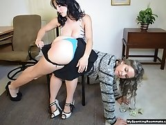 Kay Spanks Mom at Work