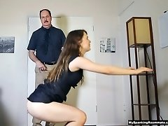 Gig 225: Secretary Alaina Fox Spanked and Caned