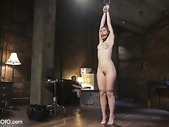 Ella Nova loves anal sex, but first she must learn her lessons. Tommy uses operant conditioning, electro stim and a vibrator to teach Ella to talk dirty. Ella's reward is a hard anal sex, bondage and rough treatment at the hands of her sadistic slave trainer.