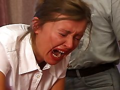 Severe classroom punishments for college girls in tears