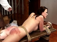 A severe group caning somewhere in the East - Girl 1