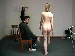 Humiliating naked exercises for instructor spanking shame