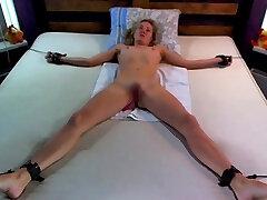 Freaky medical fetish and electro bdsm of blonde