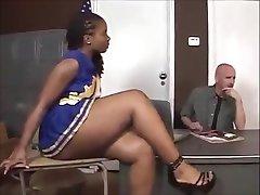 Ebony cheerleader Tara