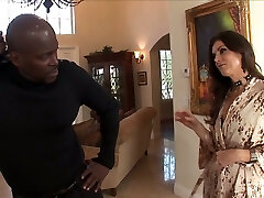 After throating massive black dick lusty India Summer rides stud on top