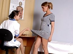 Pussy and body inspection of a future lesbian babe