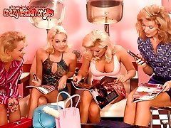 A group of big tits blond lesbians ramming pussies with toys and dildos