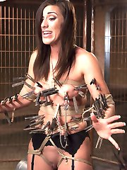 Rilynn enters the program with an agenda. She is a sexy as fuck lady with long lean legs, beautiful natural tits and a knockout face that just screams 'Fuck Me'. And she is smart enough to know right away what she needs to learn:The Curriculum Items - The Art of Welcoming Pain. She hates the pain of the clothes pins on her skin and nipples but she begs me to train her to take the pain and get off on it. - The Squat. She is weak. The squat is central to a strong slave and a strong squat is required for the deep, hard reverse cowgirl fucking we love to see on Training of O. Rilynn is challenged to undertake a program to improve her strength and performance in this area.Intense stress positions, hard corporal punishment, deep throat fucking, hard pussy fucking and intense slave training dominate this smoking hot update.