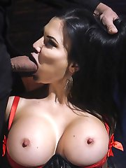 Big tit fuck doll Jasmine Jae submits to Steve Holmes' cruel attentions and his Big Fucking Dick. Jasmine loves being tied tight and her tight asshole split open by Steve's giant cock. Hardcore anal, rough sex, latex cock sucking, and brilliant BDSM.