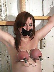 bondage tits torture puffy nipples