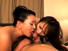 Two AV Models - young and milf suck and ride TokyoBang.com