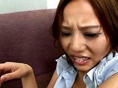 Ruri Saijo Asian gets cum on tongue after PublicSexJapan.com