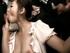Minori Hatsune Asian sucks shlongs while PublicSexJapan.com