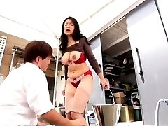 Yuko Kasatsuki has huge cans nipples rubbed AllJapanesePass.com