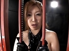 Naho Hazuki with huge cans rubs cock with WierdJapan.com