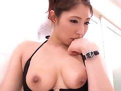 Hina Akiyoshi Asian has hairy cunt fingered JpTeacher.com