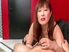 Reiko Shimura Asian sucks manstick with such appetite and bites plums