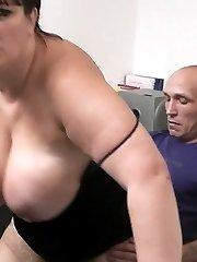 Silly fat brunette sucks and fucks her hung boss for a nice little bonus