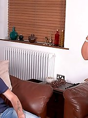 Horny BBW blonde fucks husband and it all turns into a real mess