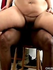 White BBW banged by a black guy