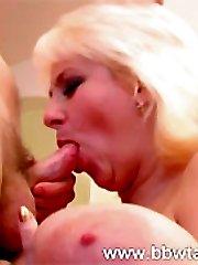 Hard young dick fucking saggy fat boobs!