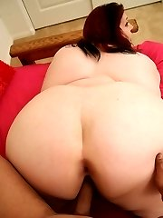 Redhead hog bending over to have her pussy rammed from behind