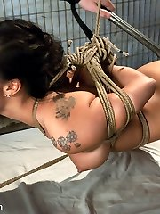 Asa Akira gets splattered for turning tricks in a massage parlor by a psychotic sex crazed cop.  After indulging in her whorish routine and coming inside of her pussy, he arrests Asa and takes her back to his private chambers where she becomes his sex slave.  She is banged and penalized in steel and cable restrain bondage for your pleasure.