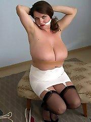 hooter bondage tits torture