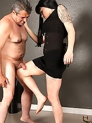 Infuriated her slave would dare cheat on her by seeing another Mistress, Femdom Nightshade does...