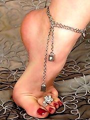 Babe loving her feet