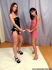 Lesbian Mistress with strapon
